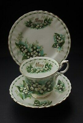 Bone China Royal Albert Flowers Of The Month Trio - May