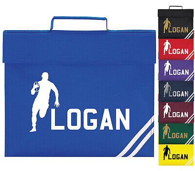 Childrens Personalised Sports Rugby School Book Bag Boys Girls PE Kit Gift