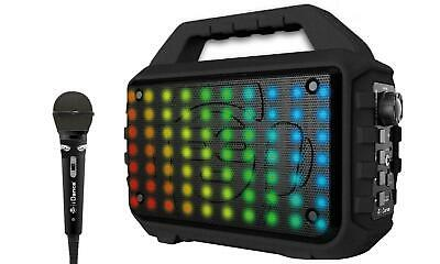 iDance Blaster 400 Speaker with Microphone and Disco Light