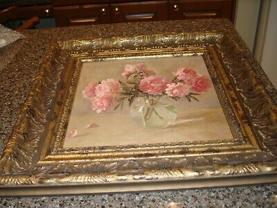 Pink Peonies Print by Russian artist Chuikov, framed, ready to hang