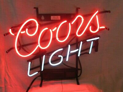 Vintage Coors Light working neon beer sign for man cave/ bar!Outdoor wall decora