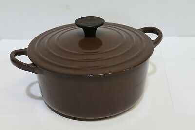 Le Creuset  Brown Cast Iron 18cm Round Casserole/ Soup Pot -250