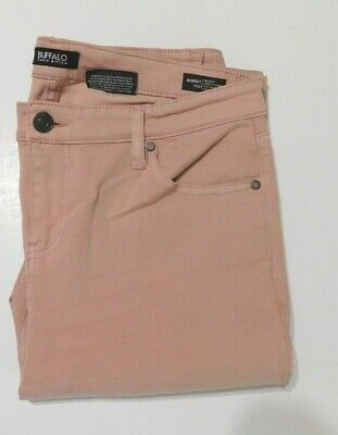 Buffalo Women's Aubrey Stretch Mid Rise Ankle Grazer 12/32 Mid Rise Rose NEW