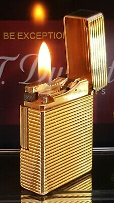 ST DuPont Lighter Gold Line 1 Small Function Serviced Warranty Stunner VGC X388