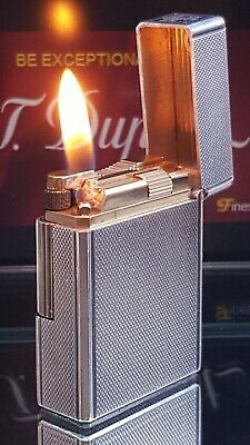 ST DuPont Lighter Silver Line 1 Small Function Serviced Warranty Stunner VGC X42