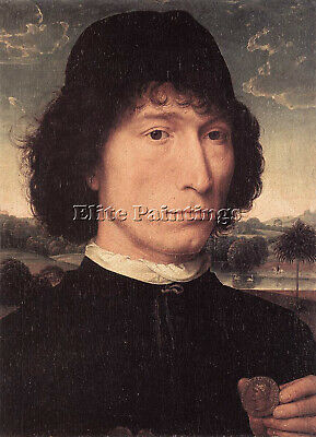 Hans Memling Portrait Of A Man With A Roman Coin 1480 Or Later Painting Handmade