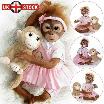 "20"" Reborn Monkey Baby Animals Reborns Realistic Reborn Dolls Kids Gifts"