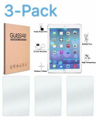 3 Pack TEMPERED GLASS Screen Protector for iPad 9.7 Pro 5th 6th Air Air 2nd Gen