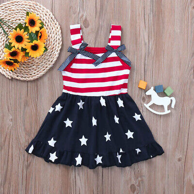 Strip Girl Summer Princess Dress Kid Baby Party Wedding Pageant Dresses Clothes