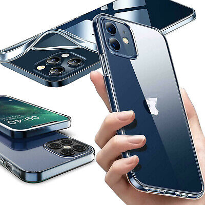 For iPhone 11 Pro MAX XS XR Max Ultra Thin Clear Transparent  Shockproof Cover