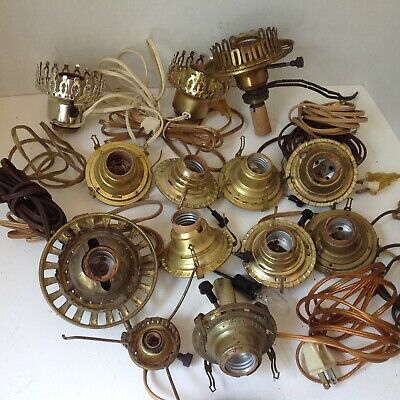 12 vintage used no. 2 electric conversion oil lamp burners