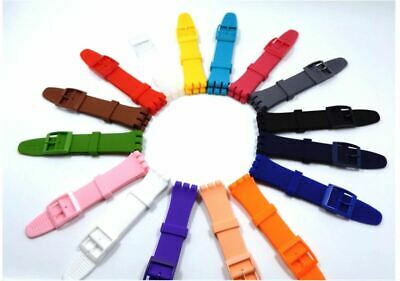 Wrist Watch Band Strap Suits Swatch 16/17/19/20mm Rubber Silicone Watchband 2019