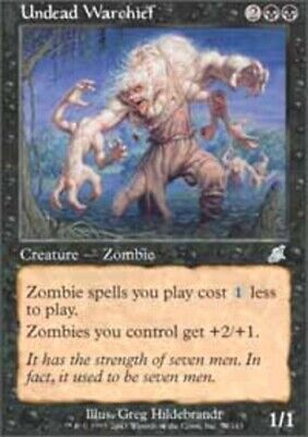 MTG Magic The Gathering Cards **4x Undead Warchief** Scourge LP black CNY