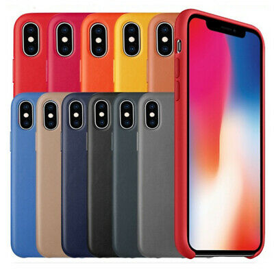 For Apple iPhone  XS Max XR X  8 Plus 7 Original  OEM Leather Phone Case Cover