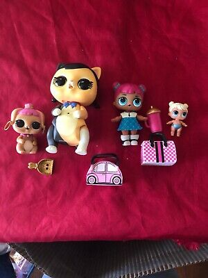 Lol surprise dolls, Lot of 4 Big And Little Sisters,pets Including Interaction