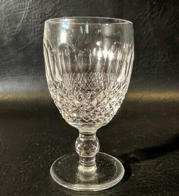 """Waterford Colleen Crystal Short Stem Claret Wine Goblet or Glass 4-3/4"""""""