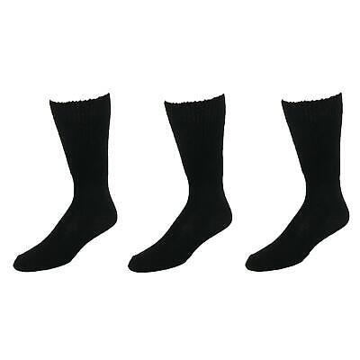 New Extra Wide Sock Co. Men's Cotton Wide Big and Tall Tube Socks (Pack of 3)