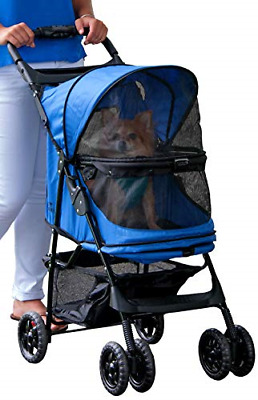 Pet Gear Happy Trails No-Zip Stroller, Sapphire Blue