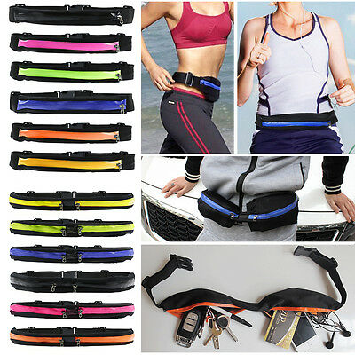 Unisex Waist Belt Bum Bag Jogging Running Travel Pouch Keys Phone Coin Sports