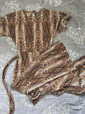 Girls Snake Print Jumpsuit Age 8 - 9 Years.