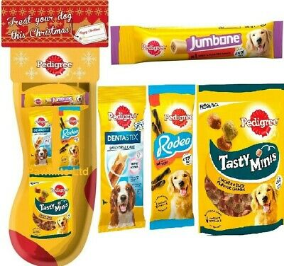 PEDIGREE STOCKING - (4 treats) - Christmas Dog Pack bp XMas Kit PawMits Pet Food