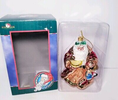 Kurt S. Adler Santa Christmas Ornament World of Santas English Santa