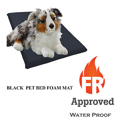Black Dog Cage Crate Matt Waterproof Fire Resistant Tough and Durable Bed Mat