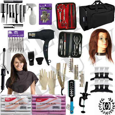 Cosmetology Mannequin Head - State Board Exam 100% Approved Beauty School Kit