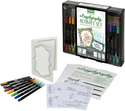 Crayola signature crayoligraphy hand lettering activity set 45 pcs markers pens