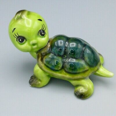 """Vintage Norcrest Baby Turtle Ceramic Figurine Made in Japan A496 3"""" Long"""