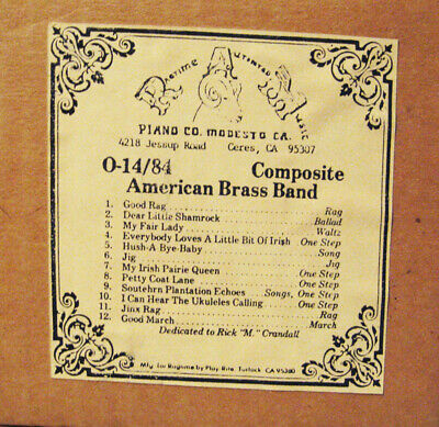 Used Nickelodeon O Roll #14-84 for Coinola, Ragtime Orchestrions, bandorgans