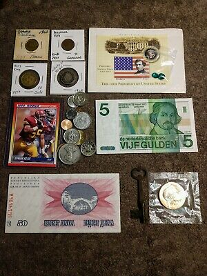 Junk Drawer Lot U.S. And Foreign Currency