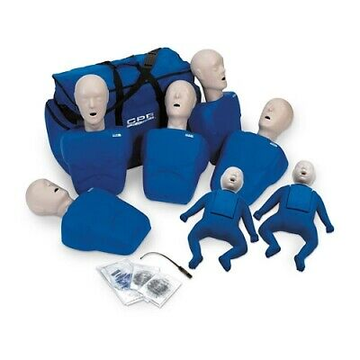 CPR Prompt 5 Adult/Child & 2 Infant CPR AED training Manikins -  Blue TPAK700