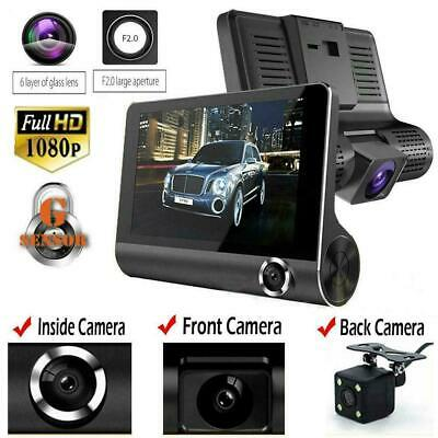 "4""Car DVR Dual Lens Dash Cam Front and G-sensor Rear 1080P Video Recorder Camera"