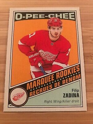 2019-20 O Pee Chee O P C Marquee Rookies Retro Green Filip Zadina Red Wings