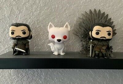 Game Of Thrones Funko POP Lot - Jon Snow+Iron Throne Jon Snow+ Ghost