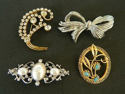 Vintage Brooches Mixed Lot