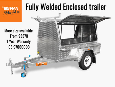 Fully Welded Aluminium Enclosed Trailer (2 Doors & Ladder Racks)
