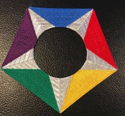 2019 24th World Scout Jamboree USA IST Patch Contingent Pentagram Traded At WJ