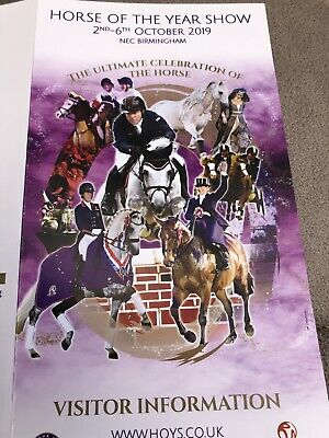 Horse of the year show. Fri 4th Oct.  Band 'A' gold ticket day &  evening