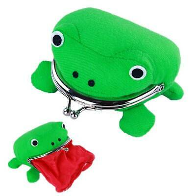Naruto Frog Shape Cosplay Coin Child Lock Purse Wallet Soft Furry Plush Gift