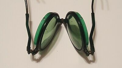 Old Willson Goggles Vintage Green Glasses STEAMPUNK