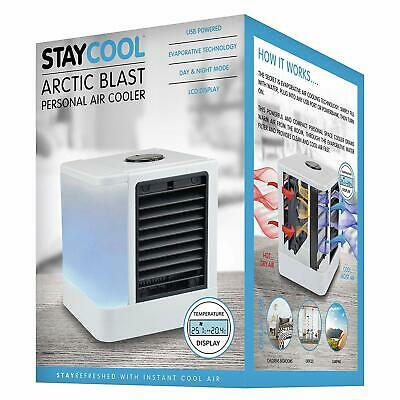 Staycool Arctic Blast Personal Air Cooler - USB Powered Humidifier Fan
