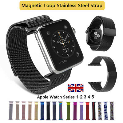 For Apple Watch iWatch Series 1 2 3 4 5 Milanese Loop Stainless Steel Strap