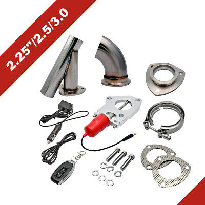 """STAINLESS UNIVERSAL EXHAUST CUTOUT-OUT VALVE E-CUT KIT REMOTE 2.5"""" / 63mm 2019"""