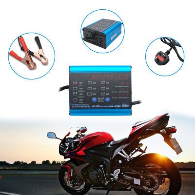 Maso 10/6/2Amp 6V 12V Intelligent Car Bike Smart Battery Charger Microprocessor