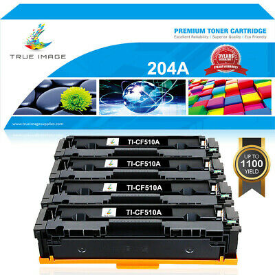 4PK Black Toner for HP CF510A 204A Color Laserjet Pro MFP M181fw M180nw M154nw