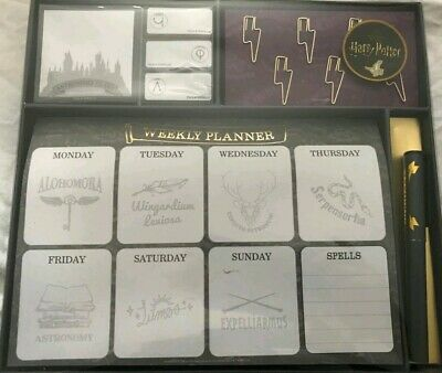 Harry Potter Weekly Planner With Pen And Sticky Notes/ Tabs