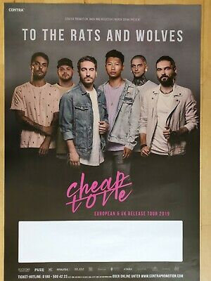 TO THE RATS AND WOLVES 2019 MÜNCHEN -- orig.Konzert Plakat - Poster  A1 xx