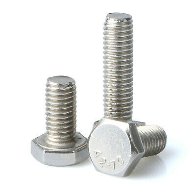 Hex Head Bolts M3 M4 M5 M6 M8 M10 Hexagon Screws A2 Stainless Steel Din 933